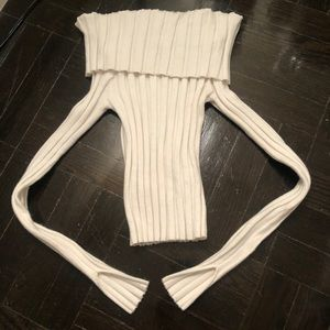 Zara Cream off the shoulder sweater small